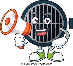 An image of grill cartoon design style with a megaphone