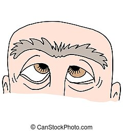 Man with unibrow