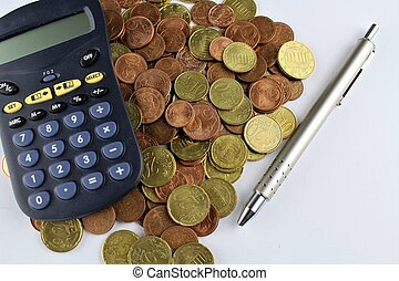 An Image of Money, calculator and pen