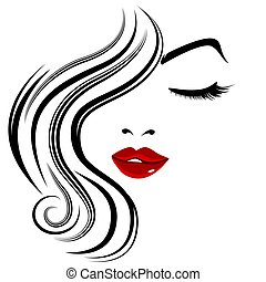 Pretty Face Girl Closed Eye Eyelashes
