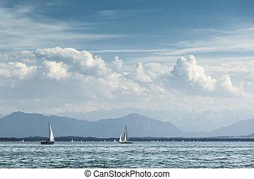 sailing at Starnberg lake