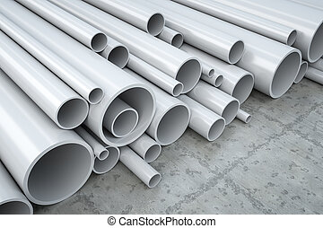 plastic pipes - An image of some plastic pipes in a...