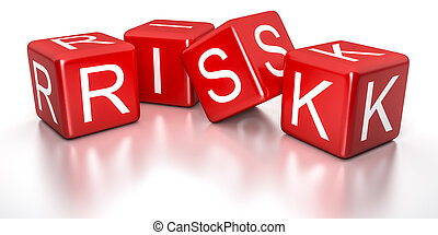 red risk dice - An image of some red risk dice