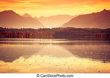 Staffelsee lake in Bavaria Germany