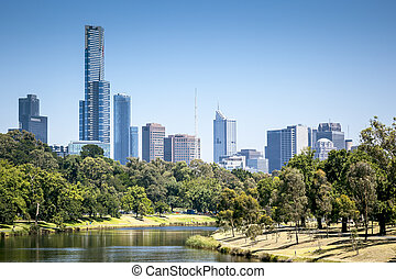 An image of the nice skyline of Melbourne