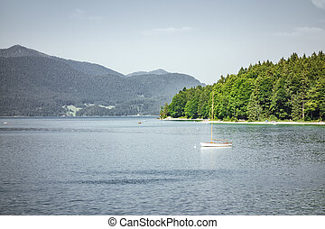 An image of the very beautiful Walchensee at Bavaria Germany