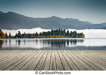An image of the Walchensee in Bavaria Germany