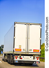 An image of truck on the highway
