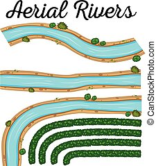 An Image Showing Aerial Rivers illustration