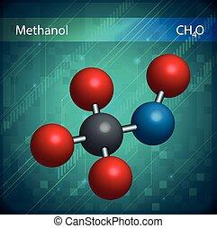 Methanol formula - An image showing the Methanol formula