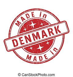 An impression of a seal with the inscription MADE in DENMARK