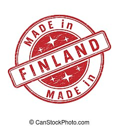 An impression of a seal with the inscription MADE in FINLAND