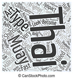 An In Depth Look At Muay Thai Word Cloud Concept