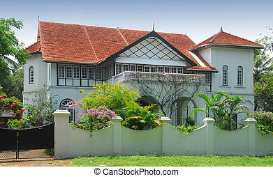 Indian bungalow - An Indian bungalow in the southern city of...