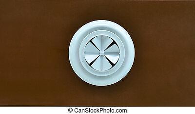 An industrial ventilation fan