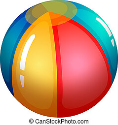 An inflatable beach ball