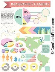 Infographics Elements - An Infographics Elements showing a ...