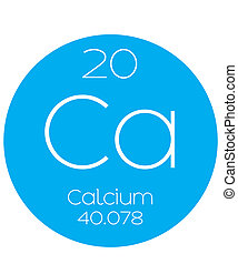 Informative Illustration of the Periodic Element - Calcium