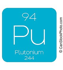 An Informative Illustration of the Periodic Element - Plutonium
