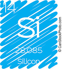 Informative Illustration of the Periodic Element - Silicon
