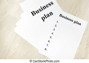 An inscription of the business plan, execution points,
