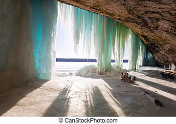 An Inside View of Grand Island Ice Curtains - Munising, Michigan