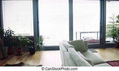 An interior of a modern apartment. - An interior of a modern...