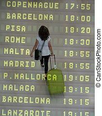 International Traveler - An International Traveler walking ...