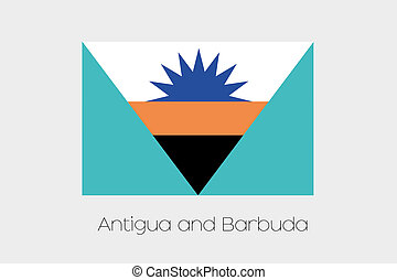 Inverted Flag of  Antigua and Barbuda