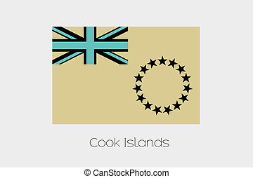 An Inverted Flag of Cook Islands