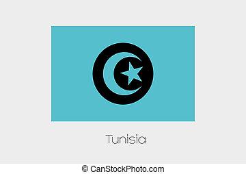 Inverted Flag of  Tunisia