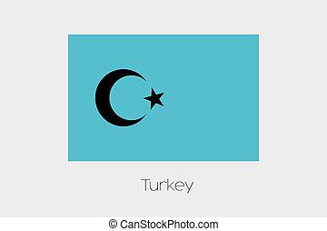 Inverted Flag of  Turkey