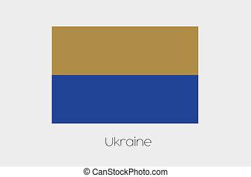 Inverted Flag of  Ukraine