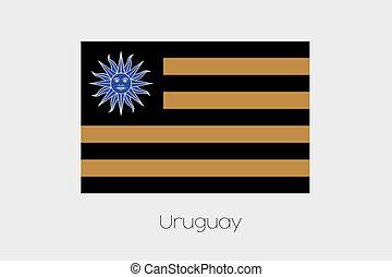 Inverted Flag of  Uruguay
