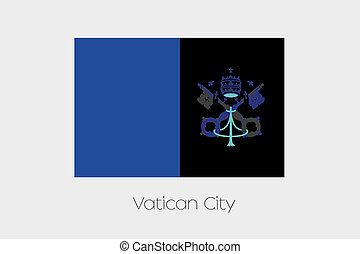 Inverted Flag of  Vatican