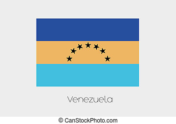 Inverted Flag of  Venezuela