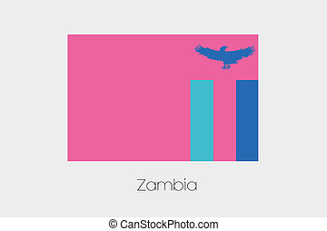Inverted Flag of  Zambia