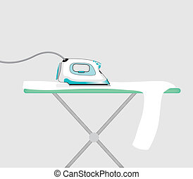 an iron and a ironing board
