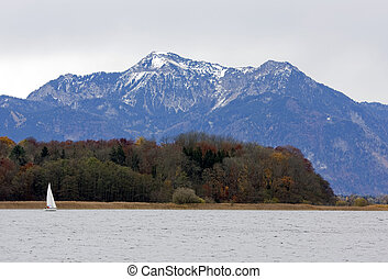 An island at Chiemsee lake in Germany