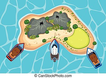 An Island From Bird Eyes View