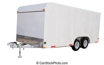 enclosed trailer - an isolated enclosed trailer
