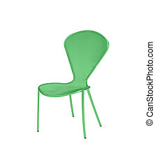 an isolated green chair on white
