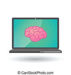 laptop with a brain