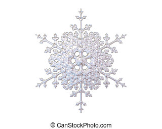 snowflake - An isolated snowflake on white background