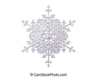 snowflake - An isolated snowflake on white background