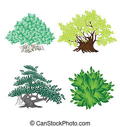 An Isometric Collection of Green Trees and Plants