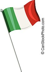 An Italian Flag on White Background