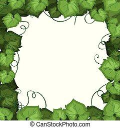 An ivy leaf border