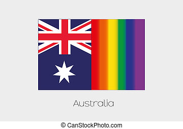 LGBT Flag Illustration with the flag of Australia - An LGBT ...