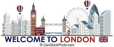 An London Tourist Attraction Template illustration